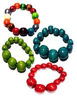 Украшение Браслет из дерева разноцветный Украинский сувенир Д384б Руди