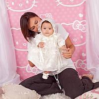Набор для крещения Розали (рубашка, панталоны, шапка, повязка) от  Battesimo от 0 до 6 месяцев, фото 1
