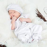 Костюм для крещения Иванушка  от Miminobaby от 0 до 3 месяцев, белый с белой вышивкой