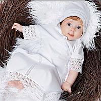 Детская шапочка Ажурная от Miminobaby белая 40-44