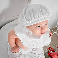 Детский берет Ажурный от Miminobaby белый  44-48