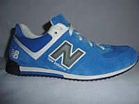 Мужские  кроссовки new balance, замшевые.