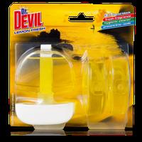 Dr. Devil 3в1 WC Lemon Туалетный блок 3х55мл Лимонна свіжість /12 (9659) (шт.)