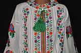 """Вышиванка """"Бабусины цветочки"""" на домотканом, рост 92-116, 360/330 (цена за 1 шт. + 30 г), фото 2"""