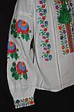 """Вышиванка """"Бабусины цветочки"""" на домотканом, рост 92-116, 360/330 (цена за 1 шт. + 30 г), фото 3"""