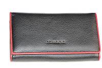 """Кожаный стильный кошелек черного цвета """"Alessandro Paoli"""""""