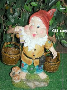 Садовая фигура с кашпо