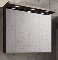 Зеркальный шкаф с подсветкой Буль-Буль ШЗ-10 Венге 80см