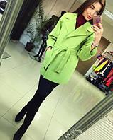 Пальто женское Chanel оливковое , пальто весна