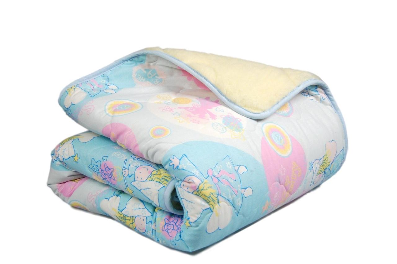 Одеяло полуторное 140х205 Бязь + мех Homeline