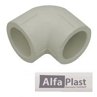 Колено соединительное ППР Alfa Plast 25х90°