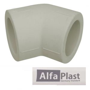 Колено соединительное ППР Alfa Plast 50х45°