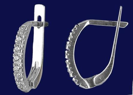 Серебряные серьги дорожки