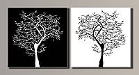 Картина модульная на холсте Стильное дерево HAD-013 55*112(2)