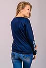 Женский свитшот-вышиванка (темно-синий), фото 6
