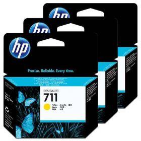 Картридж HP №711 DJ 120/520 (CZ136A) Yellow, Pack-3