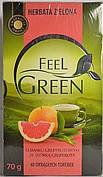 Чай зеленый Feel Green  со вкусом грейпфрута , 40 пак