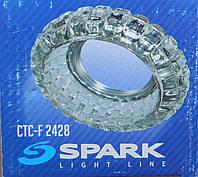 Точечный светильник СТC F 2428 прозрачное стекло, фото 1
