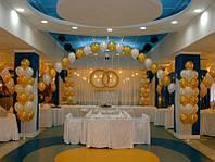 Кольца из воздушных шаров на свадьбу