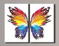 Картина модульная на холсте Бабочка HAD-015 88*110(2) см.