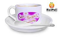 Кофейная чашка с вашим принтом, с ложкой и блюдцем