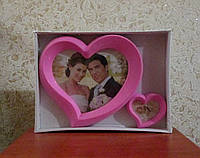 Сувенирная фоторамка Два сердца
