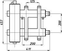 Коллектор двухбалочный с гидрострелкой (125) 1+1 выход