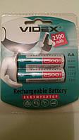 Аккумулятор батарейка Videx 2500mAh  AA (2шт)