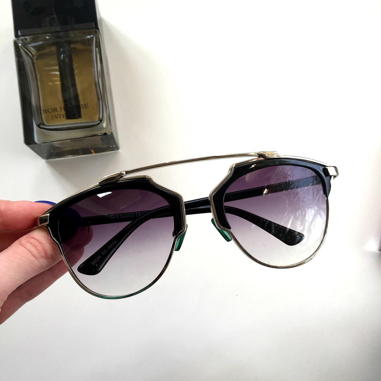 66e886a2b157 Женские солнцезащитные очки Dior So Real фиолетовые в серебряной оправе ,  магазин очков - Интернет-