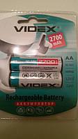 Аккумулятор батарейка Videx 2700 mAh AA (2шт)