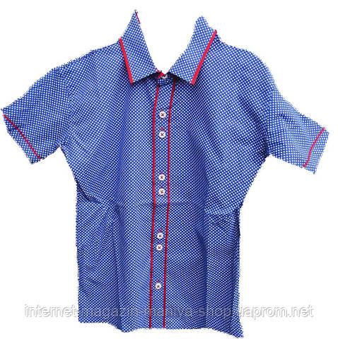 Детская рубашка на мальчика короткий рукав