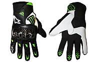 Мотоперчатки , вело рукавиці, закрытые Alpinestars М10 Air Carbon, кожа, протектор усилен (M, L,XL) ,(b-white)