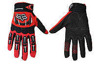 Мотоперчатки , вело рукавиці, закрытые FOX Dirtpaw (р-р M, L, XL) , (red)