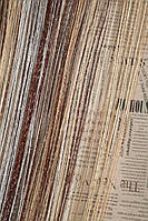 Нити радужные с люриксовой нитью Дождик Дождик коричневый+беж