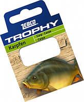 Zebco Готовые поводки Trophy Hooks to Nylon Carp (Карп).70см. (10шт) (Готовые поводки №4 Trophy Hooks to Nylon Carp 0,30mm .70см. (10шт))