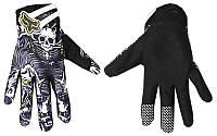 Мотоперчатки , вело рукавиці, закрытые FOX (р-р M, L, XL) , (black-white)