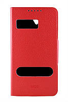 Чехол-книжка для Lenovo S820, боковой, Pielcedan, Красный /flip case/флип кейс /леново