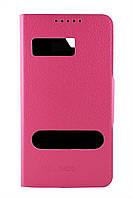 Чехол-книжка для Lenovo S820, боковой, Pielcedan, Розовый /flip case/флип кейс /леново