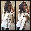 Пальто женское кашемировое с поясом P1205