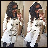 Пальто женское кашемировое с поясом P1205 , фото 1