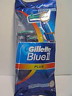 Станок мужской одноразовый Gillette  Blue II Plus  5 шт. (Жиллетт Блю 2 плюс), фото 1