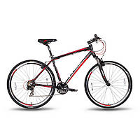 """Велосипед 28'' PRIDE CROSS 1.0 рама - 17"""" черно-красный матовый 2016"""