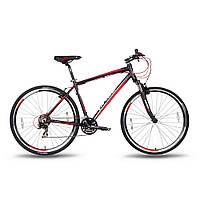"""Велосипед 28'' PRIDE CROSS 1.0 рама - 21"""" черно-красный матовый 2016"""