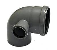 Колено 110 x 50 x 90° с отводом левое внутренняя канализация ИнтерПласт