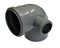 Колено 110 x 50 x 90° с отводом правое внутренняя канализация ИнтерПласт