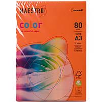 Цветная бумага Maestro А3 г/м² 80 интенсив оранжевый