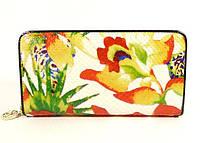 Кошелек кожаный женский цветы Velina Fabbiano 2048-299, фото 1