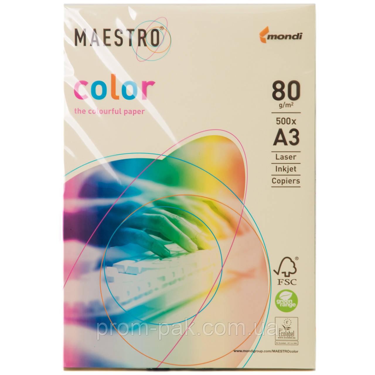 Бумага Маэстро цветная А3 г/м² 80 пастель бежевый
