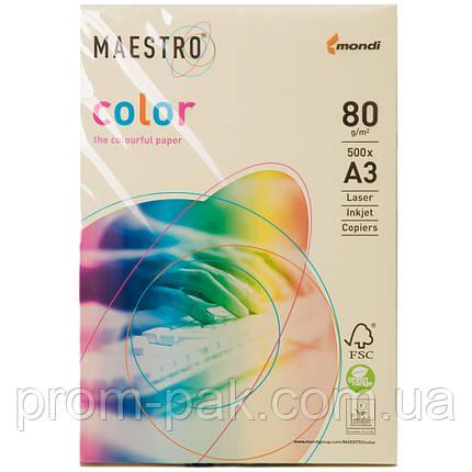 Бумага Маэстро цветная А3 г/м² 80 пастель бежевый, фото 2