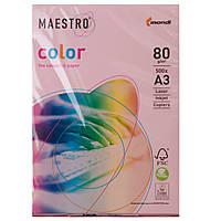 Бумага цветная Маэстро А3 г/м² 80 пастель светло - розовый